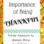 Three Reasons to be Thankful